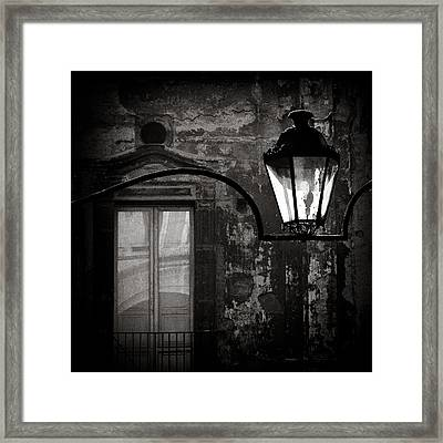 Old Lamp Framed Print by Dave Bowman