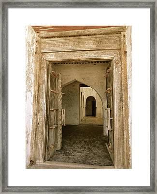 Old Lamu Town - Carved Old Door And Doorways Framed Print