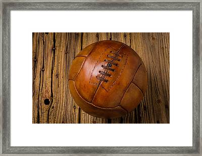 Old Leather Football Framed Print