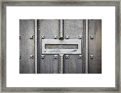 Old Letterbox Framed Print by Tom Gowanlock