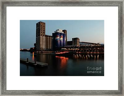 Old Lfc Grain Mill Given A Face Lift Framed Print by Daniel J Ruggiero