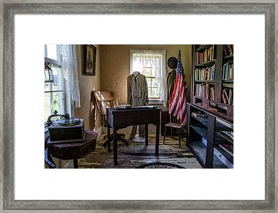 Old Library Framed Print by Ann Bridges