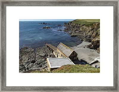 Framed Print featuring the photograph Old Lifeboat Station by Brian Roscorla