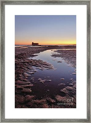 Old Lifesavers Building At Twilight Framed Print by Angelo DeVal