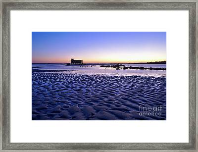 Old Lifesavers Building Covered By Twilights Blue Light Framed Print by Angelo DeVal