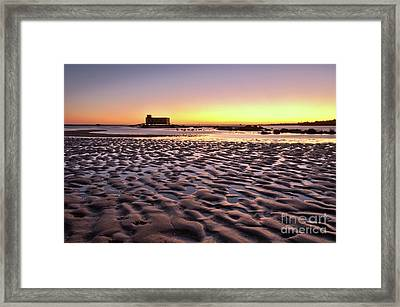 Old Lifesavers Building Covered By Warm Sunset Light Framed Print by Angelo DeVal