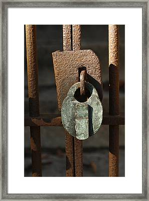 Old Lock Framed Print by David Houston