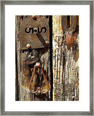 Old Lock Framed Print by Mexicolors Art Photography