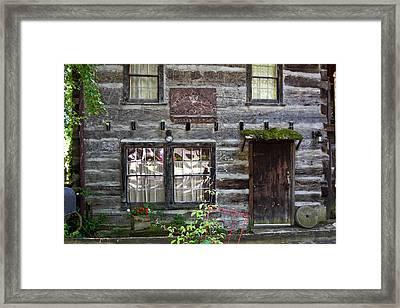 Old Log Building Framed Print