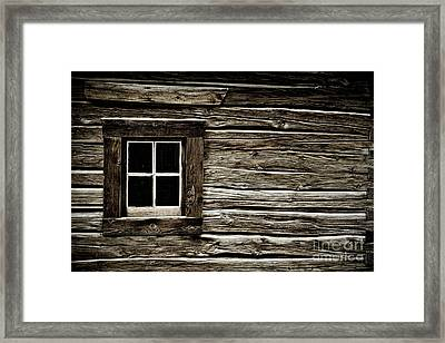 Framed Print featuring the photograph Old Log Cabin by Brad Allen Fine Art