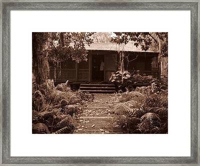 Old Log Cabin Echo Lake Framed Print by Penfield Hondros