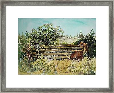 Old Log Shed Framed Print