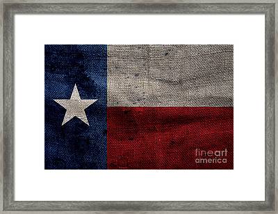Old Lone Star Flag Framed Print