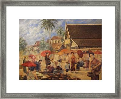 Old Luang Prabang II Framed Print by Sompaseuth Chounlamany