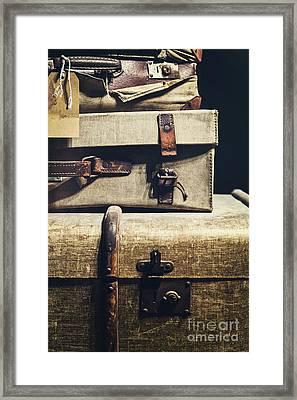 Old Luggage - Natalie Kinnear Photography Framed Print