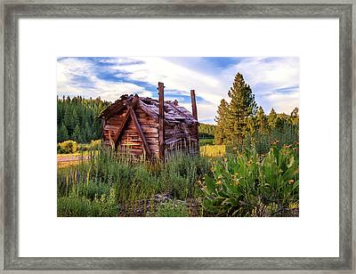 Old Lumber Mill Cabin Framed Print