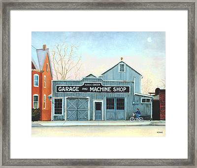 Old Machine Shop Framed Print