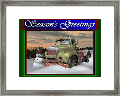 Old Mack Christmas Card Framed Print