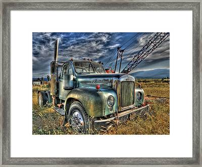 Old Mack Truck Framed Print by Peter Schumacher
