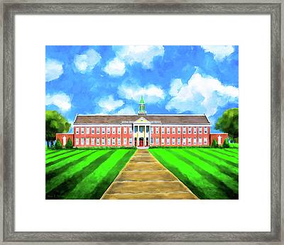 Old Main - Andalusia High School Framed Print