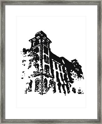 Old Main Building In Fayetteville Ar Framed Print by Amanda  Sanford
