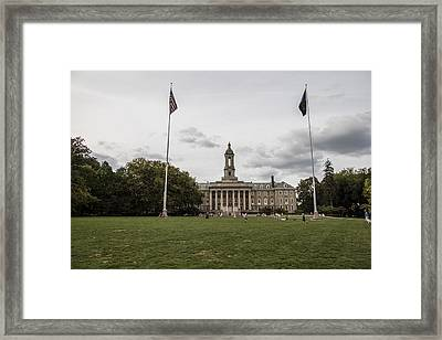 Old Main Penn State Wide Shot  Framed Print by John McGraw