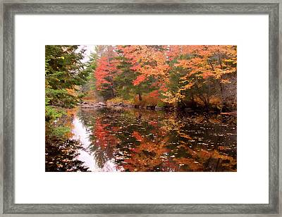 Framed Print featuring the photograph Old Main Road Stream by Jeff Folger