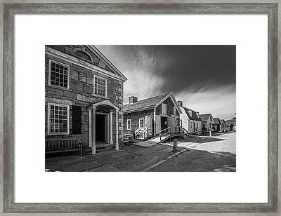 Framed Print featuring the photograph Old Main Street by Steven Ainsworth