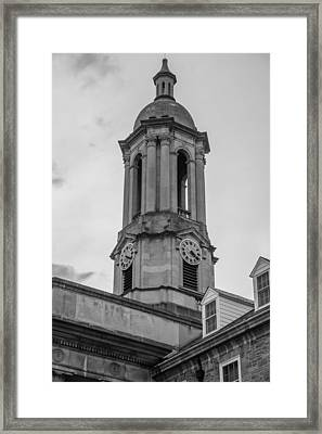 Old Main Tower Penn State Framed Print by John McGraw