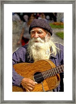 Old Man - 5 As Art Framed Print