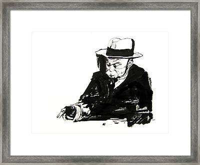 Old Man And Checkers Framed Print by Kinetik  Studio