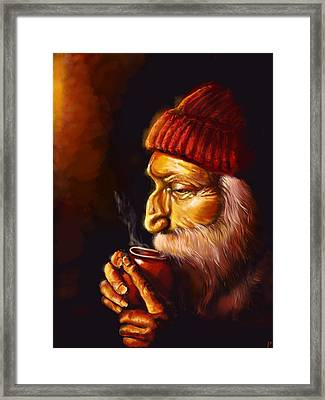 Old Man And Tea Framed Print by Patricia C Bernhard