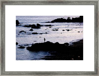 Framed Print featuring the photograph Old Man And The Sea by Jan Cipolla