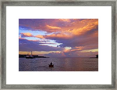 Old Man And The Sea- St Lucia Framed Print