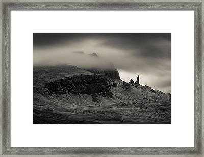Old Man And The Storr Framed Print by Dave Bowman