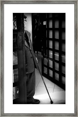 Old Man At The Door Framed Print