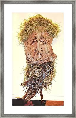 Old Man In A Tree Framed Print by Ellen Burns