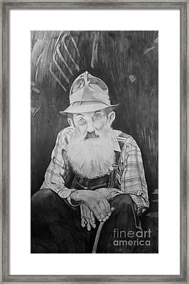 Popcorn Sutton Framed Print by Justin Arnold