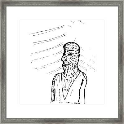 Old Man Framed Print by Karl Addison