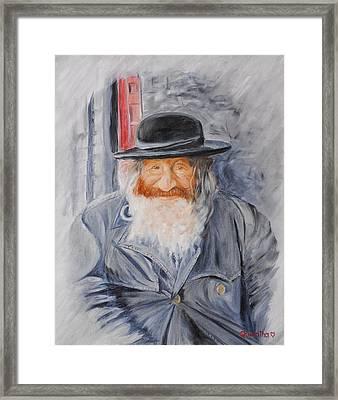 Old Man Of Jerusalem Framed Print by Quwatha Valentine