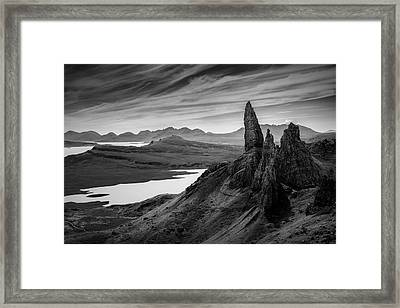Old Man Of Storr Framed Print by Dave Bowman