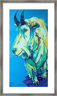 Old Man Of The Mountain Framed Print by Derrick Higgins