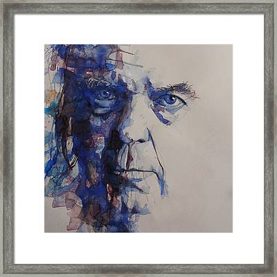 Framed Print featuring the painting Old Man - Neil Young  by Paul Lovering