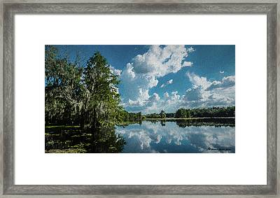 Old Man River Framed Print