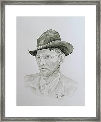 Old Man Framed Print by Torrie Smiley