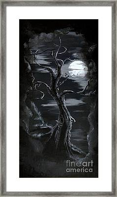 Old Man Tree And Goddess Moon Framed Print