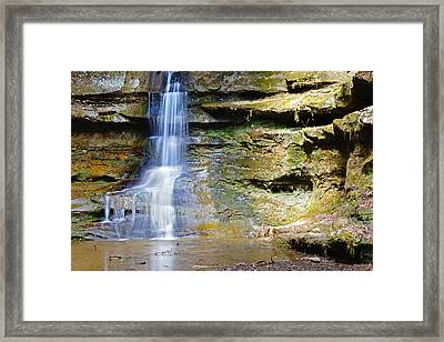 Old Man's Cave Waterfall Framed Print
