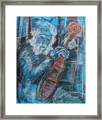 Old Man's Violin Framed Print
