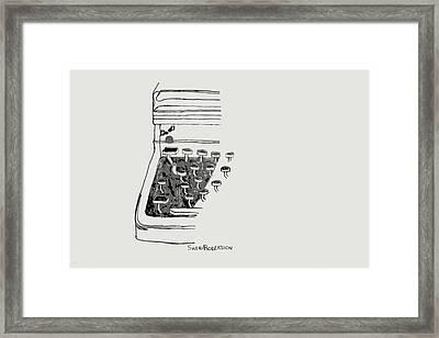 Old Manual Typewriter Framed Print by Sheri Buchheit