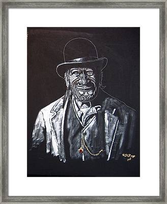 Framed Print featuring the painting Old Maori Tane by Richard Le Page